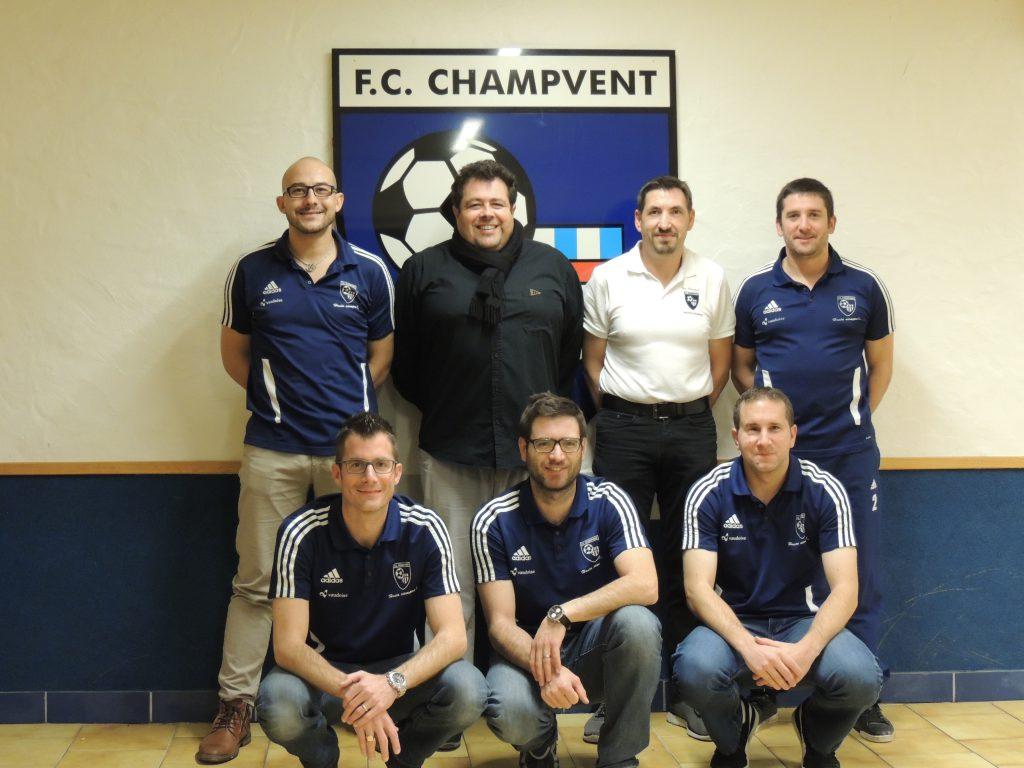Le comité du FC Champvent