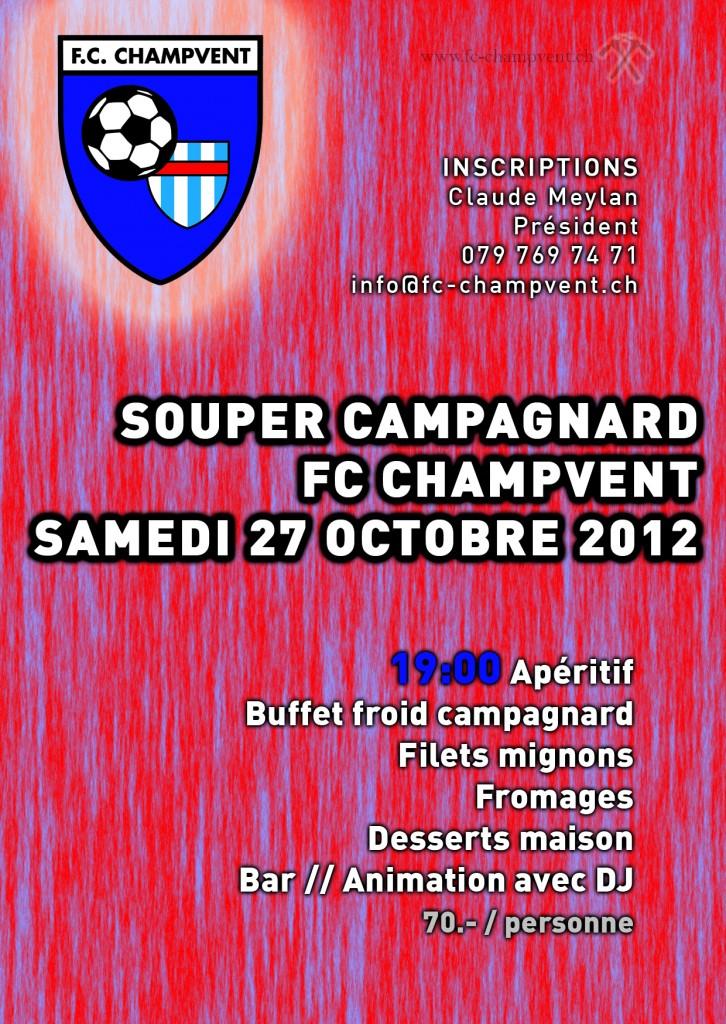 Souper de soutien du FC Champvent - 2012
